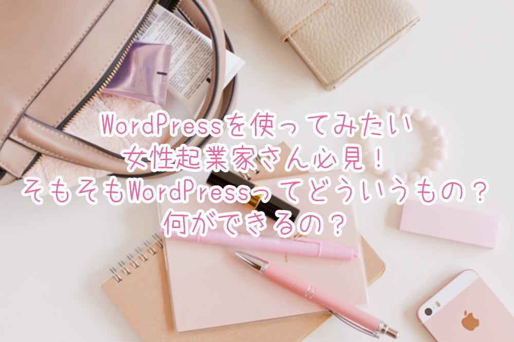 WordPressを使ってみたい女性起業家さん必見!そもそもWordPressってどういうもの?何ができるの?